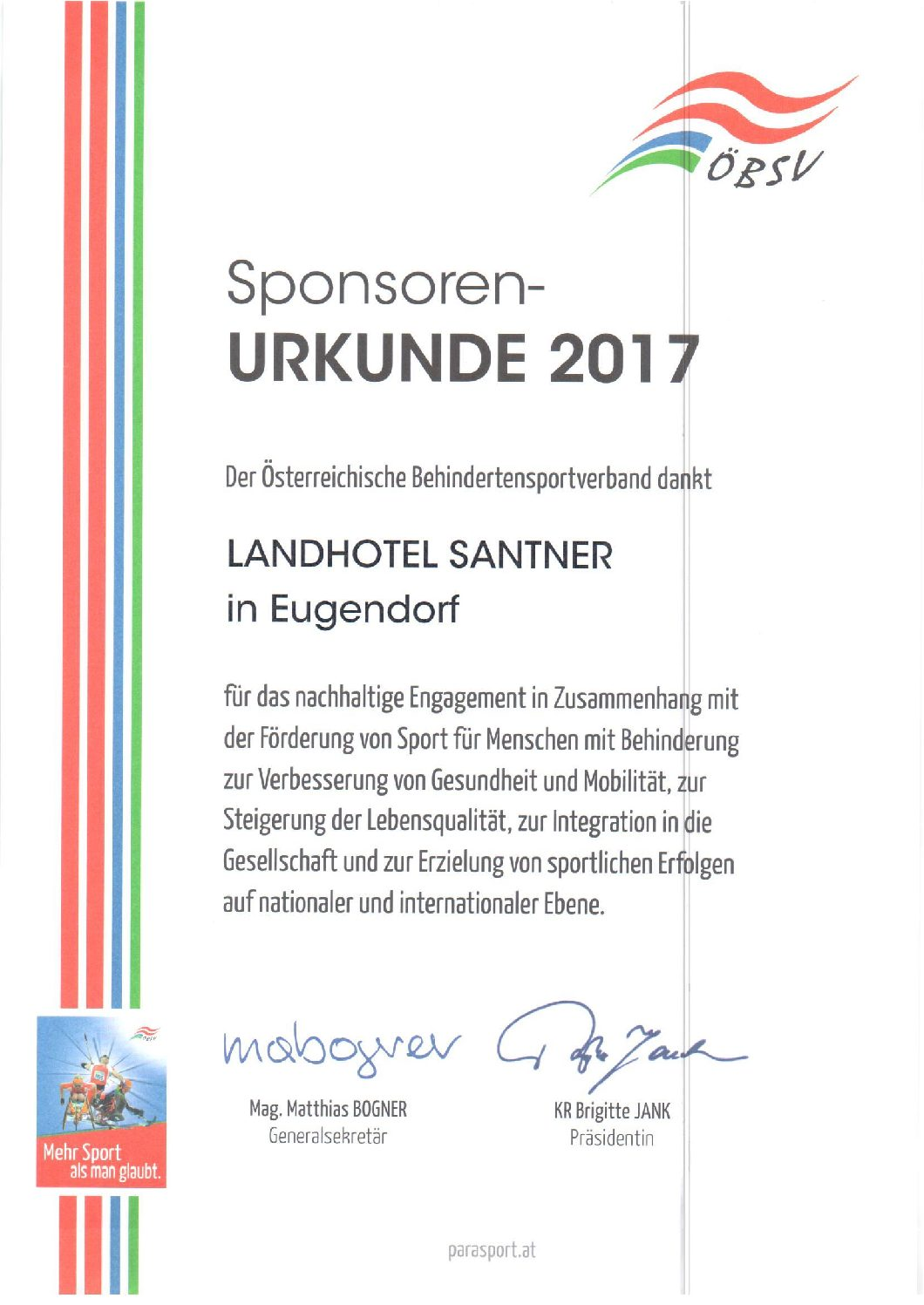 Landhotel Santner | Sponsor